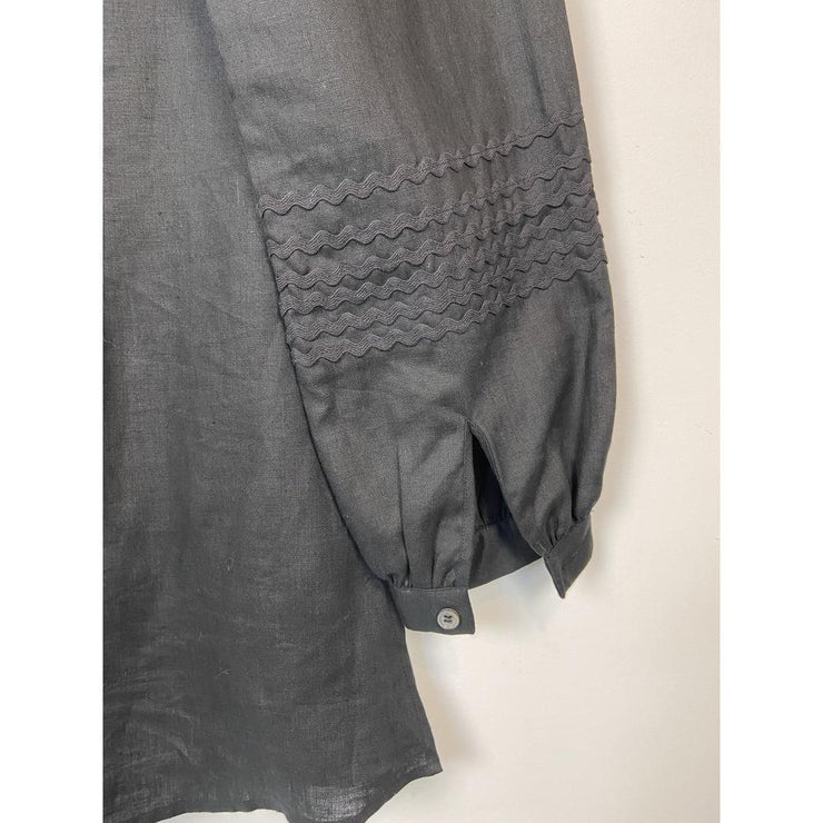 Black Linen Blouse by Anne Fontaine