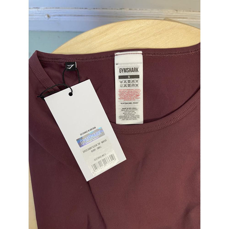 Burgundy Shirts Athletic by GYMSHARK