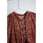 Animal Print Silk Blouse by Gucci