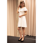 Boat Neck White Valentino Dress