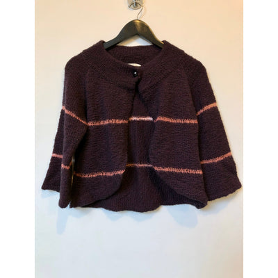 Purple Knit Cardigan by Dagmar