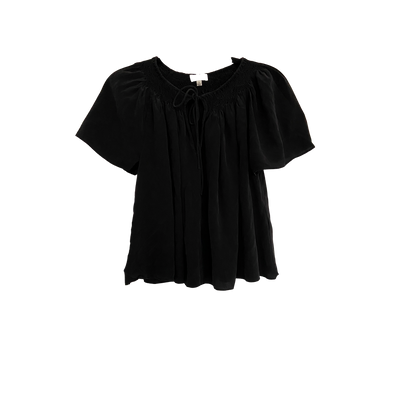 Black Silk Blouse by Wilfred