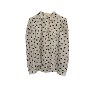 White Patterned Silk Blouse by Rebecca Taylor