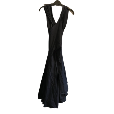 Black Midi Halterneck Dress by Donna Karan