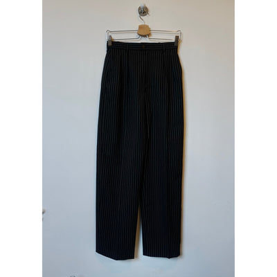 Vintage Black Pin-Striped Pants by Yves Saint Laurent