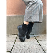 Black Flat Boots by Ten Points