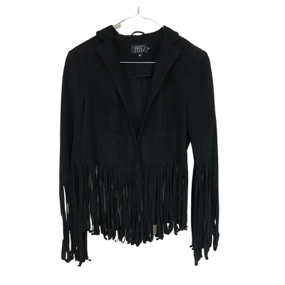 Fringe Jacket Black