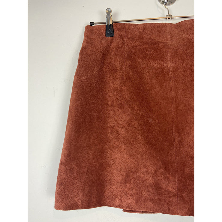 Rust Suede Skirt by Mango