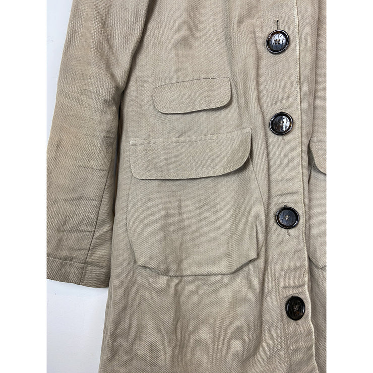 Beige Utility Jacket by Dagmar