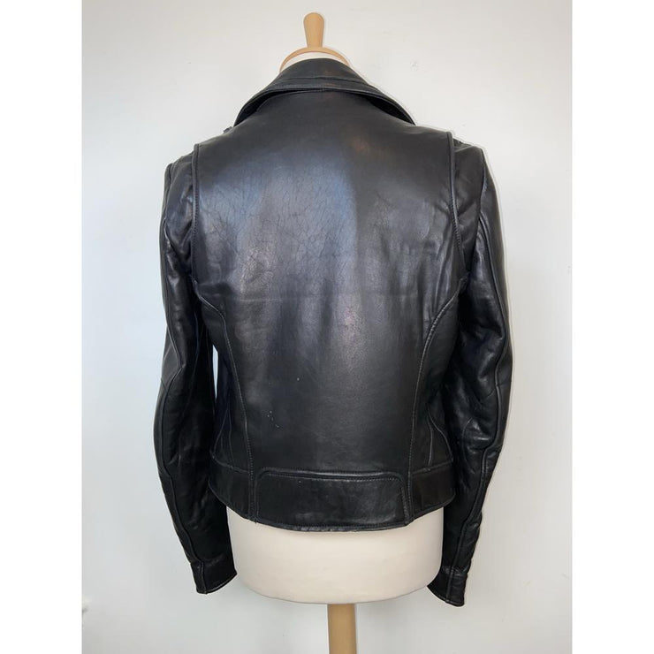Black Biker Leather Jacket