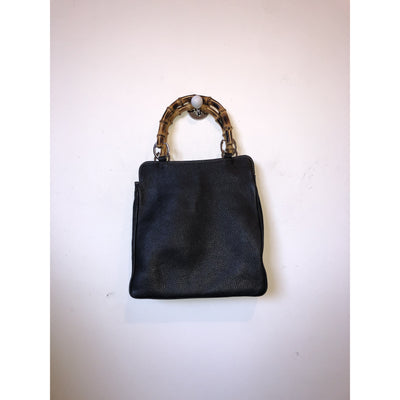 Bag with bamboo handle by Barneys