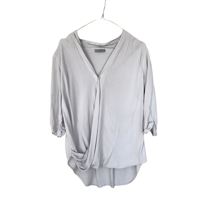Oversized Top with Pearl Button by Hunkydory