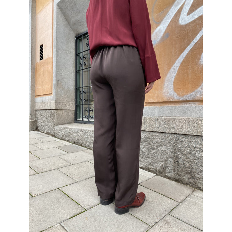 Dark Brown Wide Leg Pants