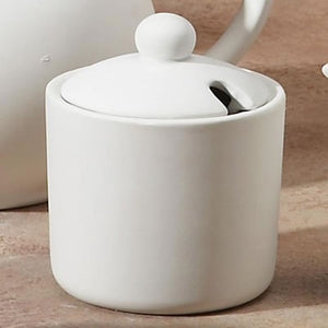 Sugar Bowl with Notched Lid
