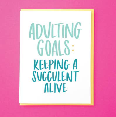 Adulting Goals Card