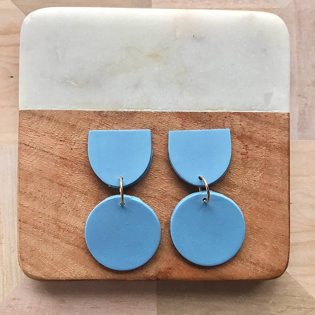 Two Part Polymer Clay Statement Earrings