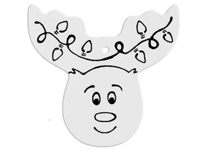 Reindeer Head Ornament