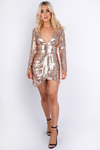 Champagne Sequin Mini Dress Champagne