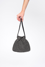 Diamante Drawstring Bag Black