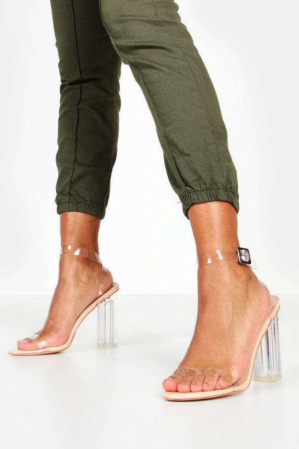 Nude Clear Strap Heel