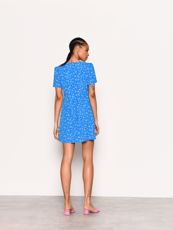 Kiki Blue & White Tea Dress