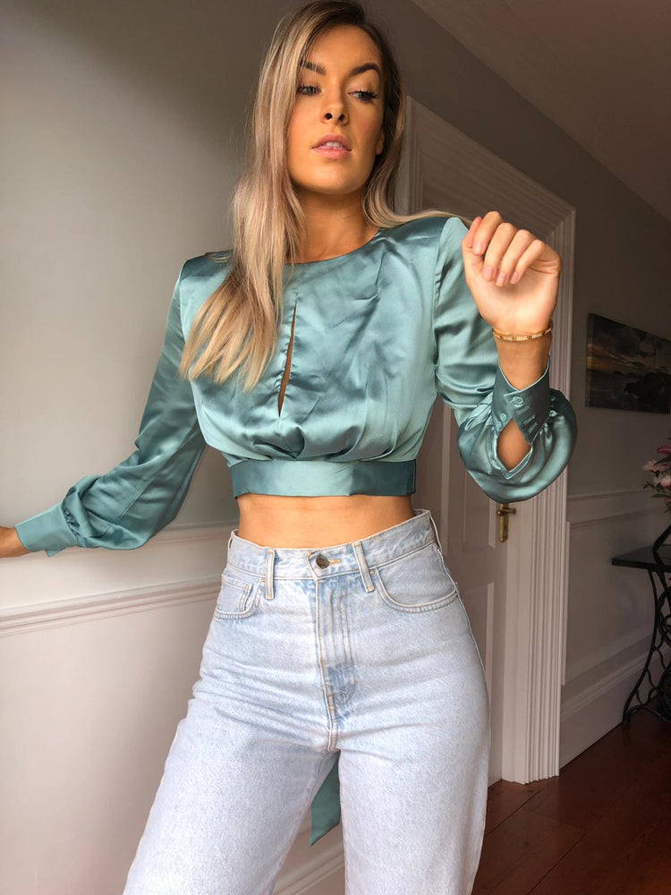 Scarlet Sage Green Top
