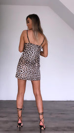Chesca leopard print slip dress