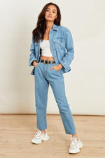 Debbie Light Wash High Waisted Mom Jeans