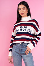 Tammy Striped slogan Jumper