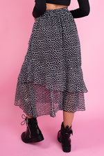 Splodge Print Tiered Layer Skirt