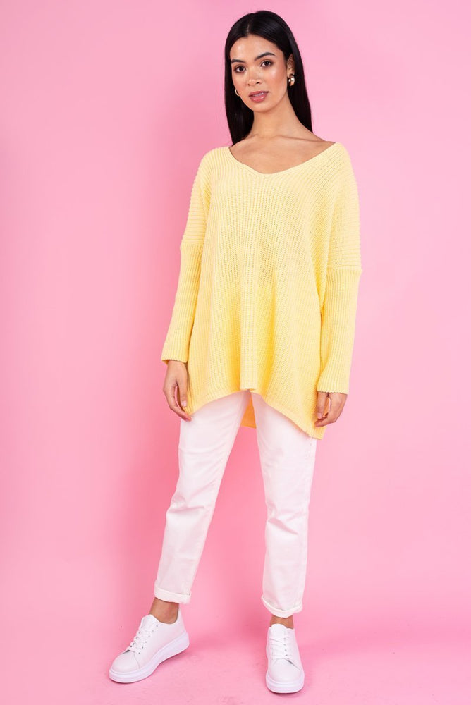 Pastel Yellow Knit Jumper