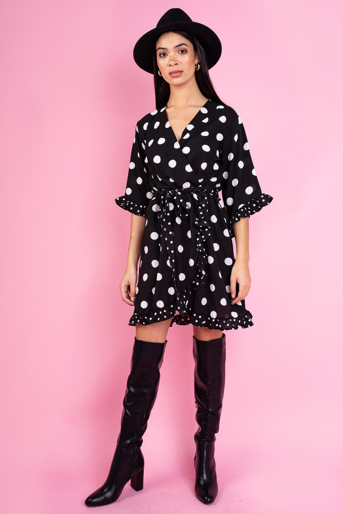 Kate Polka Dot Wrap Dress