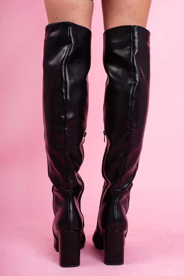 Brittany Knee High Black Boots