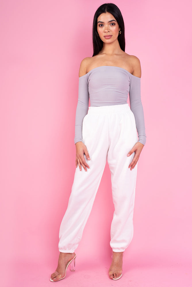 Dreamer Cream Oversized Fleece Joggers
