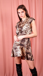 Leopard Print Dress - Beige