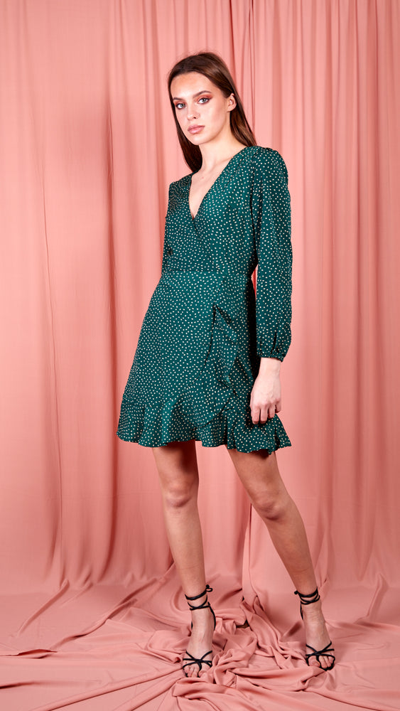 Neeve Polka Dot Dress - Green