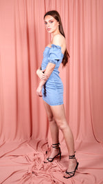 Light Blue Denim Bodycon