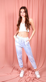 Chesca Tie Dye Draw Cord Jogger Bottoms -blue