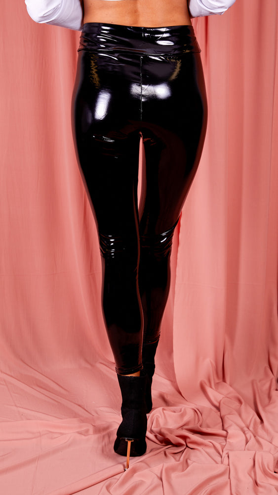 Wetlook Vinyl PU High Waisted Leggings
