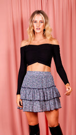 Sweetheart Off The Shoulder Top - Black