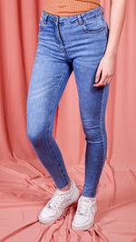 Nikki High Waisted Frayed Hem Skinny Jeans
