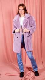 Josie Purple Puff Coat