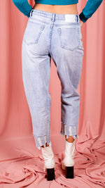 Bevin Bleach Wash Straight Leg Jeans