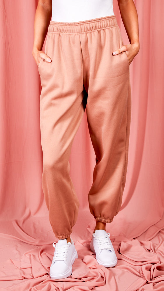 Dreamer Nude Oversized Fleece Joggers