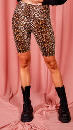 Bicycle Shorts Cheetah Print - Beige