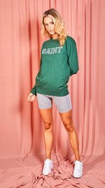 Saint Oversized Sweatshirt - Green