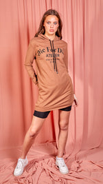 Rust Die For Dior Hooded Jumper Dress