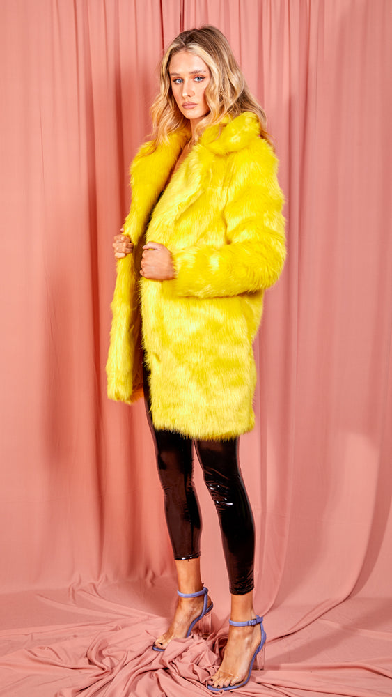 Yellow Fur Coat