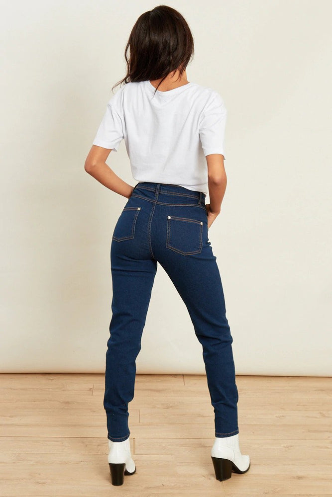 Katie Blue Mid Wash High Waist Skinny Jeans
