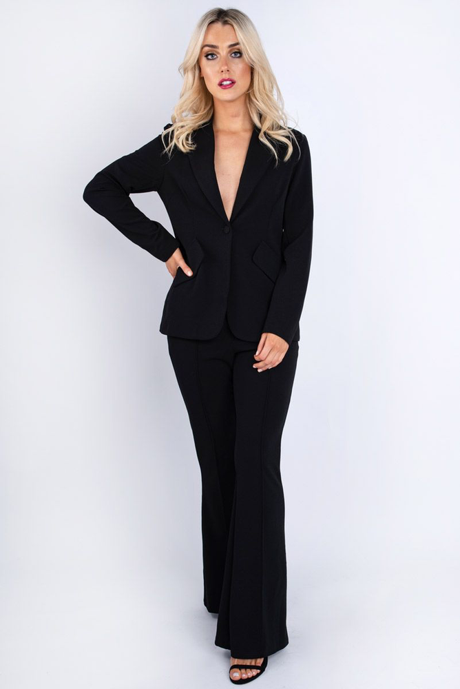 Black Wide Leg Trousers Black